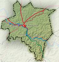 Kanawha County WV Map
